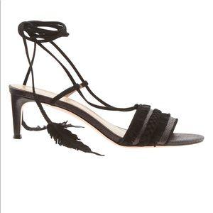 Banana republic tie up shoes- kitten heel black